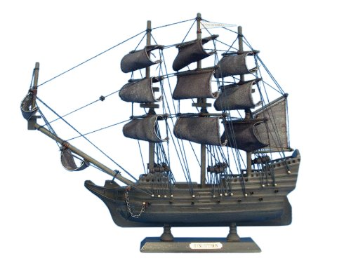 Pirates Of The Caribbean Black Pearl - Hampton Nautical  Flying Dutchman Pirate Ship, 14