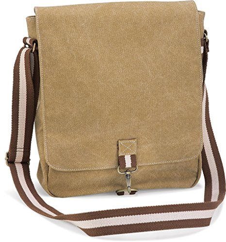 Bag 29 X Quadra 10 Messenger Vintage Cm sahara Canvas 34 qxfvt
