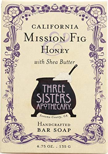 THREE SISTERS APOTHECARY California Mission Fig & Honey Bar Soap 4.75 OZ, 4.75 -