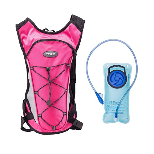 Pinty Upgraded Lightweight Foldable Hydration Backpack Pack with 2L Water Bladder for One Day Outdoor Running Climbing, Hiking, Cycling, Fit for Kids Children Women