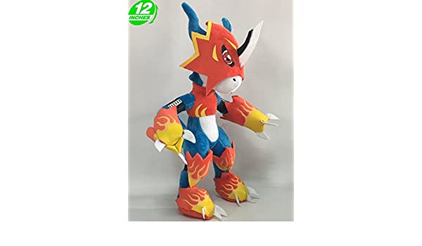 Amazon.com : Anime Digimon Adventure Flamedramon Plush Doll : Everything Else
