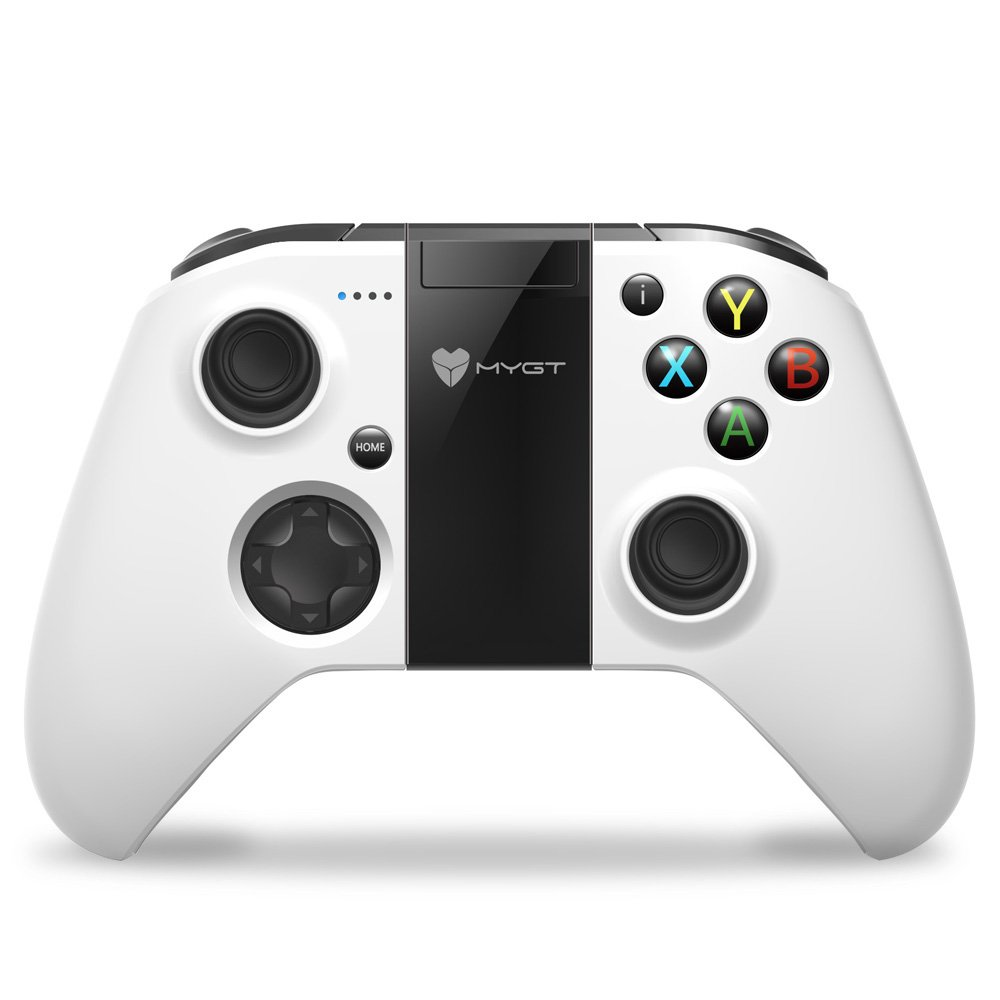 MYGT Wireless Gaming Controller Gamepad for Android Smartphone Windows PC PS3 VR TV Box (White) by MYGT