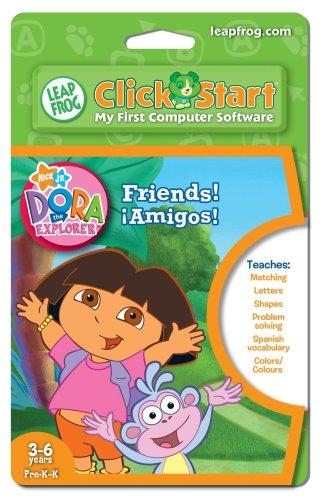 (LeapFrog ClickStart Educational Software Dora the Explorer Friends ¡Amigos!)