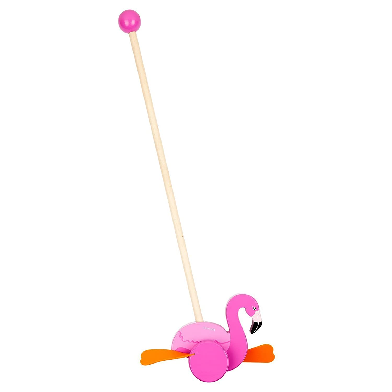 SunnyLIFE Toddlers Push Along Toy 3 Colourful Bird Designs