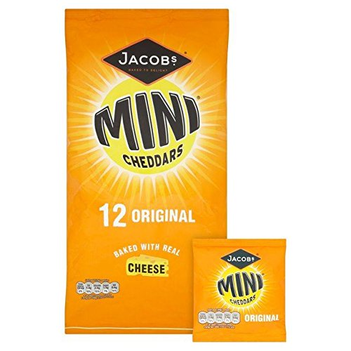 Jacob's Cheese Mini Cheddars 25g x - 12 per pack (Best Biscuits Cheese)