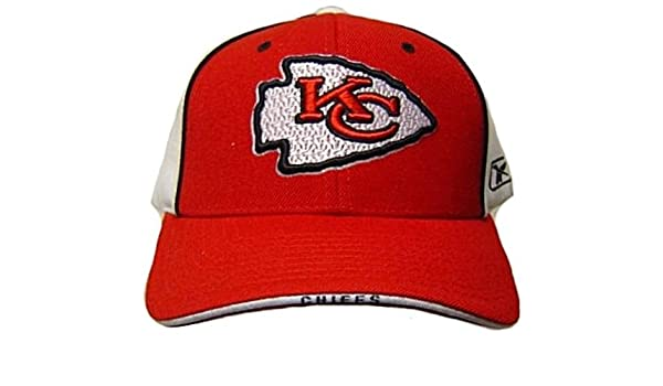 33ad4304d82 Amazon.com   Reebok NFL Kansas City Chiefs HAT CAP adjustable unisex adult Red  White   Clothing