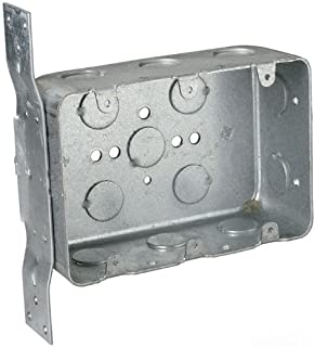 Steel City 3G4DV-1/2 Device Outlet Box Drawn Construction 3 Gang  sc 1 st  Amazon.com & Hubbell-Raco 686 2-1/2-Inch Deep 3 Gang Switch Box Welded with 1 ... Aboutintivar.Com