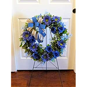 Summer Cemetery Wreath, Father's Day Cemetery Wreath, Summer Grave Wreath 6
