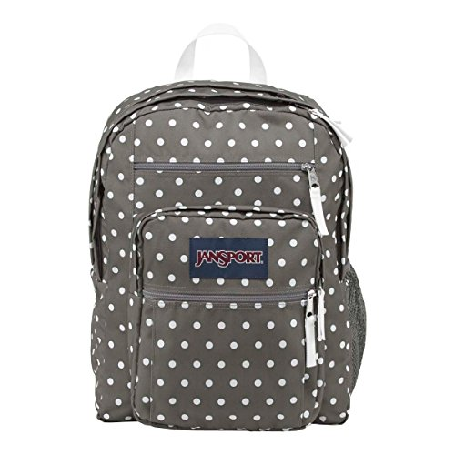JanSport Womens Classic Mainstream Big Student Backpack - Shady Grey/White Dots / 17.5