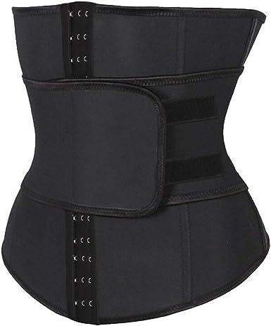 Men Waist Belt Body Shaper Slimming Trainer Corset Compression Strap Belt Underwear Shapewear,White-Medium
