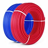 Popsport PEX Tubing 1/2 Inch PEX Potable Water Pipe 2 Rolls 300FT Non-Barrier Pex Tubing for Residential and Light Commercial Hot and Cold Water Plumbing Applications (2X300FT)