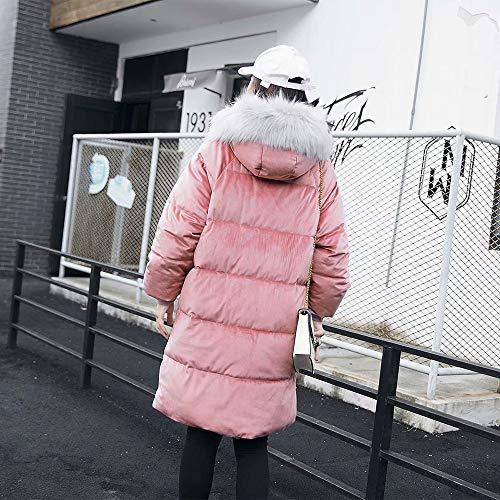 Donna Pelliccia Donne Antivento Confortevole Piumino E Da Di Yunyoud Spessore Collo Invernale Moda Grande Dimensioni Freddo Giacca Rosa Grandi Grandi Delle Caldo zOwqdI