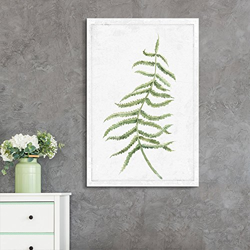 Hand Drawn Green Slim Tree Leaf Series 7 Artwork