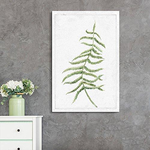 Hand Drawn Green Slim Tree Leaf Series 7 Artwork
