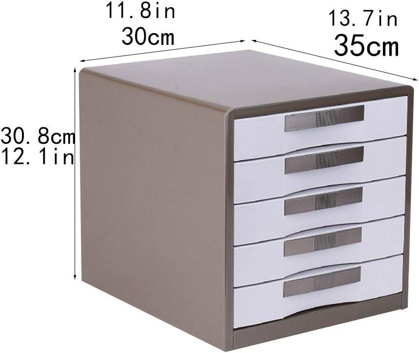 Cajón archivador de Oficina Caja de almacenamiento de metal for almacenamiento de datos de escritorio de 5 cajones, gris 30X35X30.8cm Caja de almacenamiento: Amazon.es: Electrónica