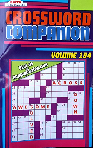 - Crossword Companion Vol. 194 ~ Crossword Puzzles Book Volume 194