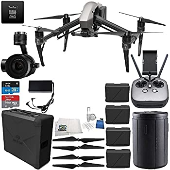 DJI Inspire 2 Quadcopter Premium Combo w/ Zenmuse X5S Camera & CinemaDNG & Apple ProRes Licenses Ultimate Bundle