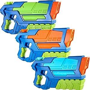 JOYIN Pistolas de Agua para Niños 3 Pack Super Water Gun Juguetes de Verano para Piscina Playa Fiesta