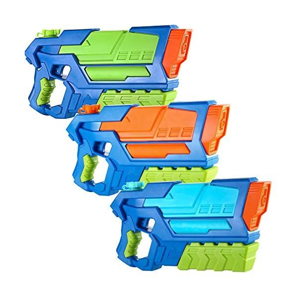 JOYIN 3 in 1 Pistole ad Acqua Potenti Bambini Adulti Super Soaker Superliquidator Fucile ad Acqua Giardino Giocattolo di… 1 spesavip