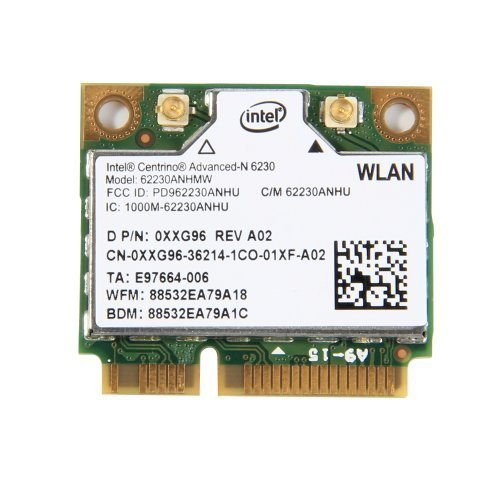 Intel Centrino Advanced-N 6230 abgn WiFi + Bluetooth 3.0 Wireless N Combo Card by Intel