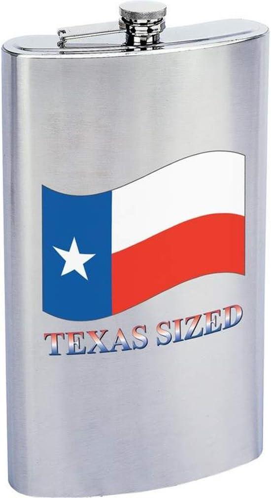 Maxam Drinkware Stainless Steel Texas Sized Flask, 1 gallon, Silver
