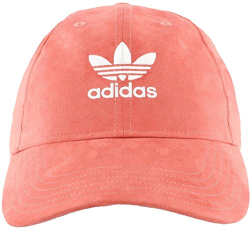 adidas Women's Originals Relaxed Plus Strapback Cap, Trace Scarlet Suede/White, One Size Adidas Red Wristband