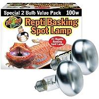 Zoo Med Repti Basking Spot Bulb, E27 Threaded Base, Set of 2 Bulbs