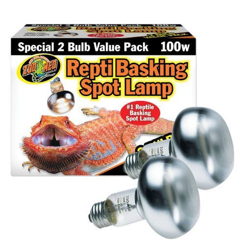 - Zoo Med Repti Basking Spot Bulb, 100 watt, E27 threaded base, set of 2 bulbs