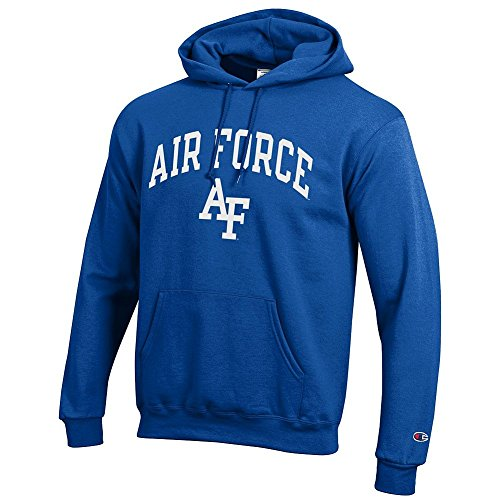 Elite Fan Shop Air Force Falcons Hooded Sweatshirt Blue - (Air Force Hooded Sweatshirt)