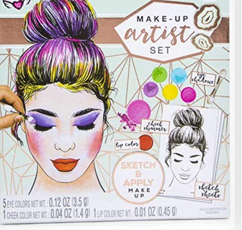 Fashion Angels Make Up Artist Design Kit with 30 Sketch Sheets and Make Up]()