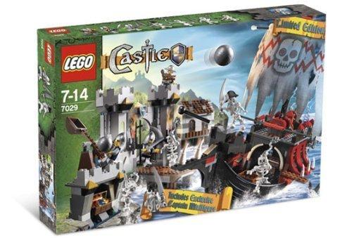 Lego Castle Exclusive Set Skeleton Ship Attack with Exclusive Skeleton Pirate Captain Minifigure #7029