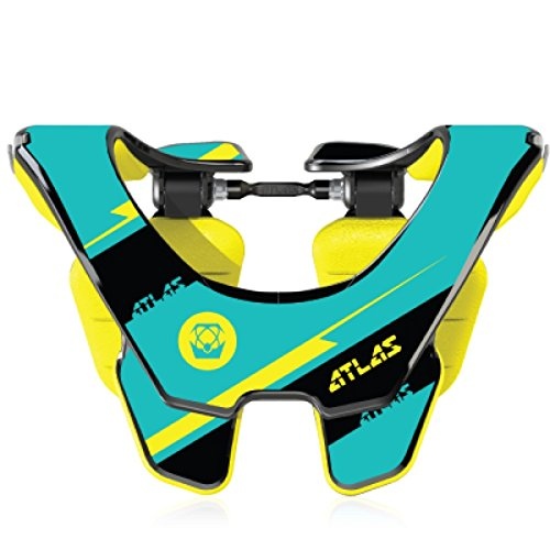 Atlas Prodigy Brace Youth Kid Neck Brace Bolt Yellow Motocorss MX Protection by Atlas
