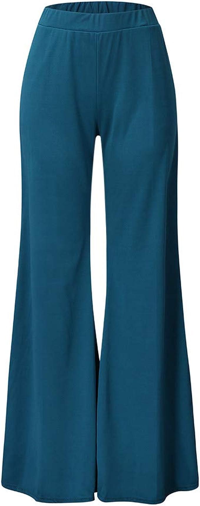 beautyjourney Pantalones Palazzo Elegantes para Mujer Pantalón ...