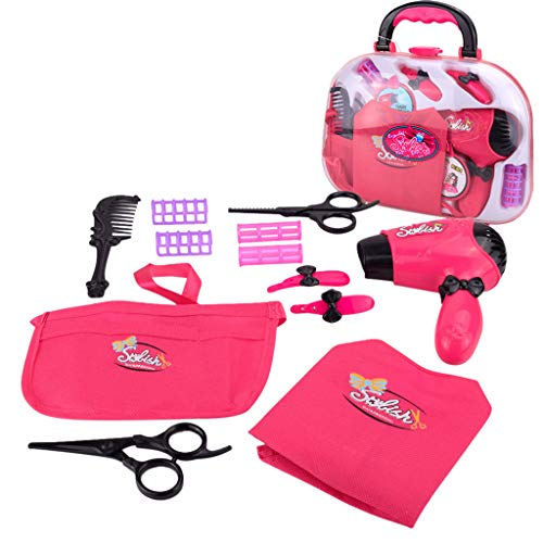 LtrottedJ Makeup Tool Kit Sets Hair Dryer Cosmetics Toys for Girls Kids Children Furniture (D)