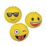 Fun Express Emoji Hanging Party Lanterns - 3 Pieces