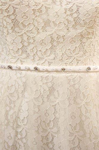 Weiß Sarahbridal Kleid A-linie Damen