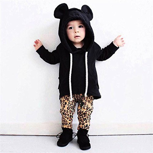 Tris Costume For Kids (Lanhui Infant Baby Boy Girl Kids Clothes Bear Hoodies Sweatshirt Coat Tops Outfits (4Years, Black))