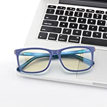 Blue Light Blocking Glasses - Computer Eyewear for Deep Sleep - Digital Eye Strain Prevention (PURPLE/ORANGE/M.BLUE)