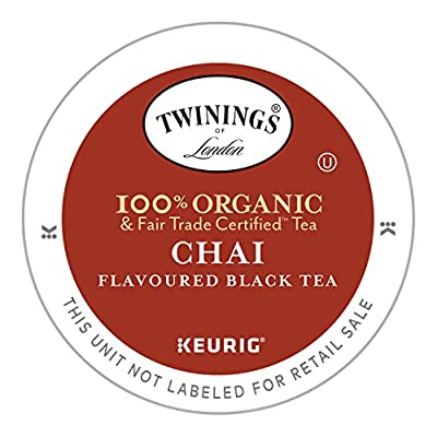 Twinings Organic Chai Tea, Keurig K-Cups, 12 Count