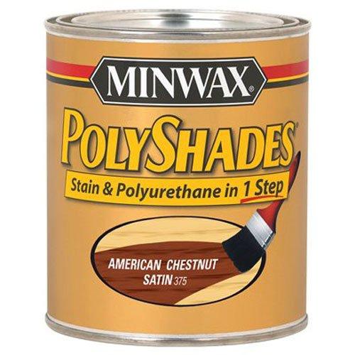 Minwax 613750444 PolyShades - Stain & Polyurethane in 1 Step, quart, American Chestnut, Satin