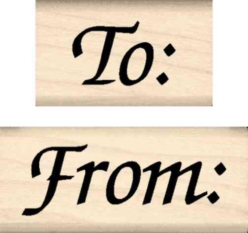 Stamps by Impression ST 0818 to from (to from (2 pc. Set) Rubber Stamp ()