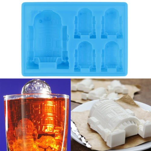 Price comparison product image Alicenter(TM) 1pc creative Cute R2-D2 Ice Tray Silicone Mold Cube Chocolate Fondant Moulds