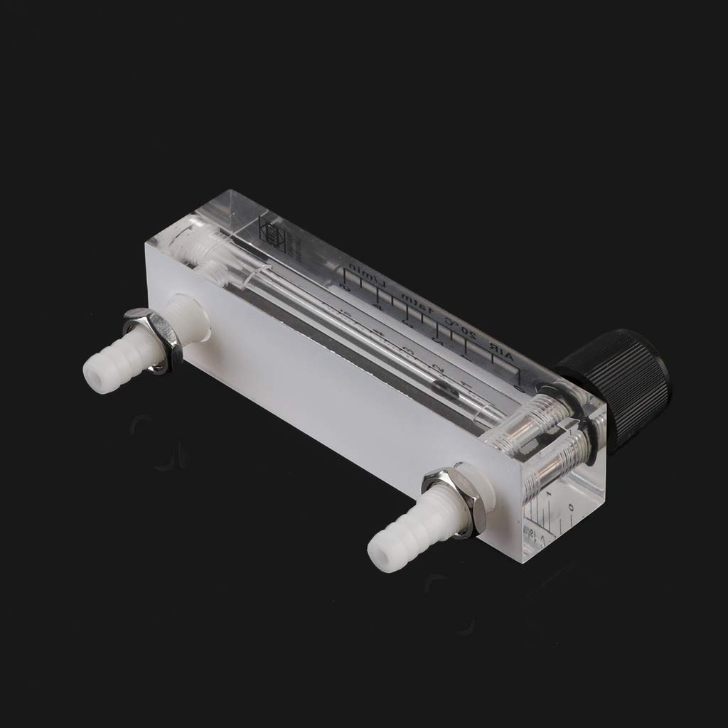 BIlinli High-Definition Precision Air Gas Flow Meter 0-5L Panel Type Plexiglass Hose Connection Oxygen Generator Rotor Flowmeter