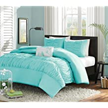 Turquoise, Blue, Aqua Girls Twin Comforter Set (3 Piece Bed In A Bag) by Teen Bedding