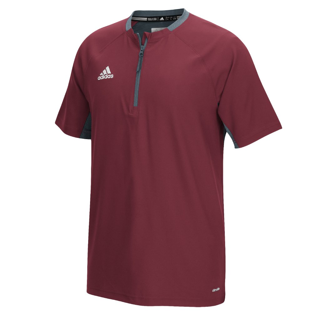 Adidas Fielders Choice Mens Baseball Cage Jacket 4XLT Burgundy-Onix