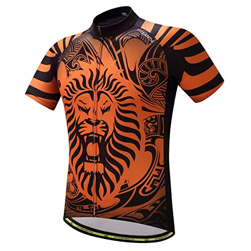 CYCEARTH Men Cycling Jersey Short Sleeve Summer Clothing Sportwear Breathable Shirt Chinoiserie