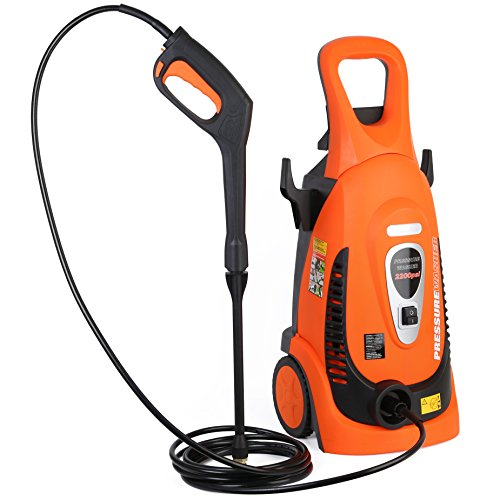 (Ivation Electric Pressure Washer 2200 PSI 1.8 GPM with Power Hose Nozzle Gun and Turbo Wand, All Parts Included, W/Built in Soap Dispenser)