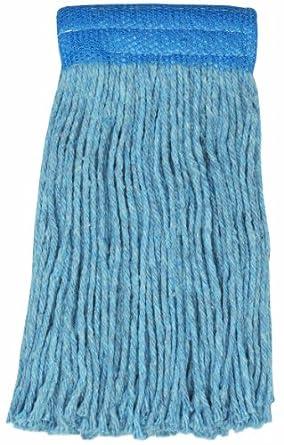 "Wilen A430020, Colored Go Go Blend Cut-End Mop, 20-Ounce, 5"" Mesh Band, Blue (Case of 12)"