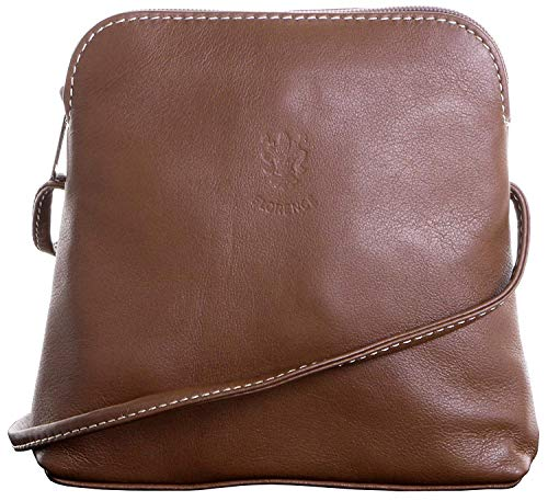 Light Coffee Leather Soft Shoulder Cross Navy Real Body Italian Handbag Bag PvqwqOz