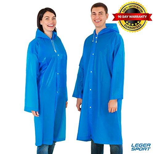 Leger Sport Rain Poncho – Rain Coat – Rain Slicker for Women and Men (Women Slicker Rain)